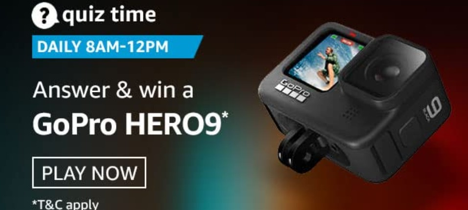 Amazon Quiz Answers 31 January 2021 Win GoPro Hero 9