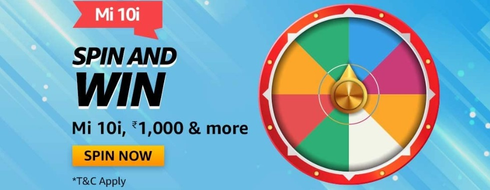Amazon Spin and Win Mi 10i Quiz