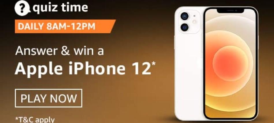 Amazon Quiz 3 January 2021 Answers Win Apple iPhone 12
