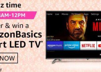 Amazon Quiz Answers 23 January 2021 Win Amazon Basics Smart LED TV
