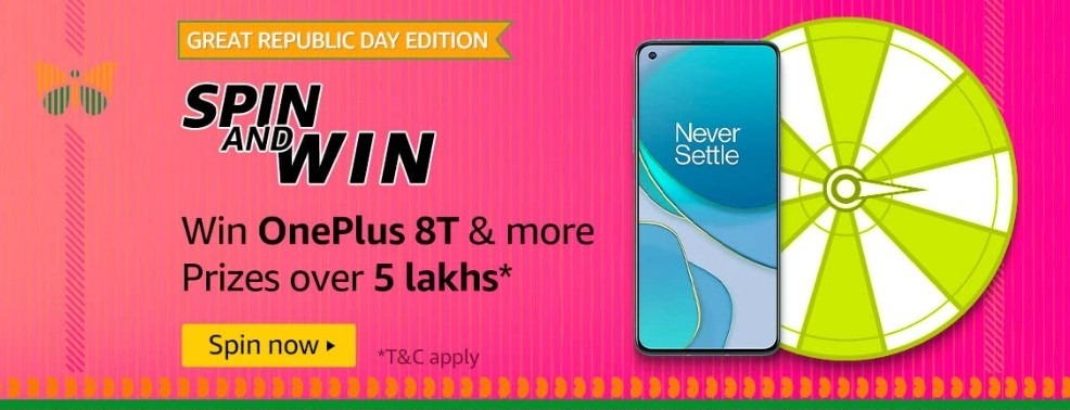 Amazon Spin and Win Great Republic Day Edition Quiz
