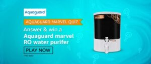 Amazon Aquaguard Marvel Quiz Answers Win Aquaguard Marvel Ro Water Purifier (8 Winners)