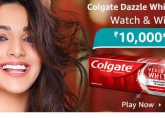 Amazon Colgate Dazzle White Quiz Answers Win Rs. 10,000 Pay Balance (10 Winners)