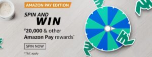 Amazon Spin and Win Amazon Pay Edition Quiz