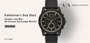 Amazon Armani Exchange Quiz Answers Win Armani Watch (10 Winners)