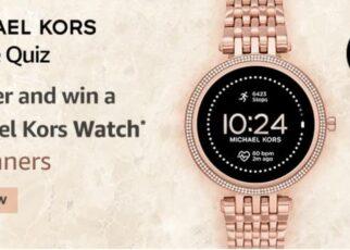Amazon Michael Kors Gen5e Quiz Answers Win Michael Kors Watch (4 Winners)