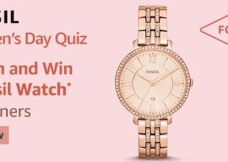 Amazon Fossil Womens Day Quiz Answers Win Fossil Watch (9 Winners)