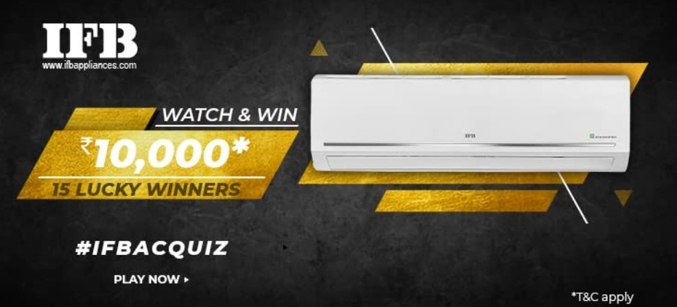 Amazon IFB AC Quiz Answers Win Rs. 10,000 Pay Balance (15 Winners)