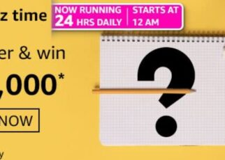 Amazon Quiz Answers 1 March 2021 Win Rs. 10,000 Pay Balance (3 Winners)