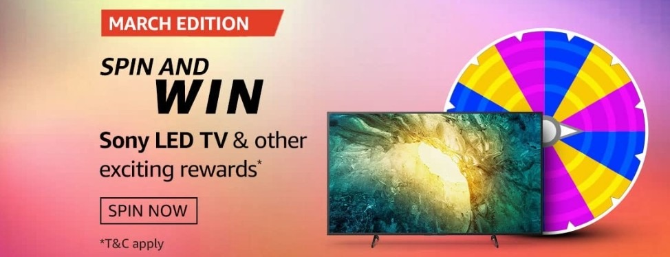Amazon Spin and Win March Edition Quiz Today