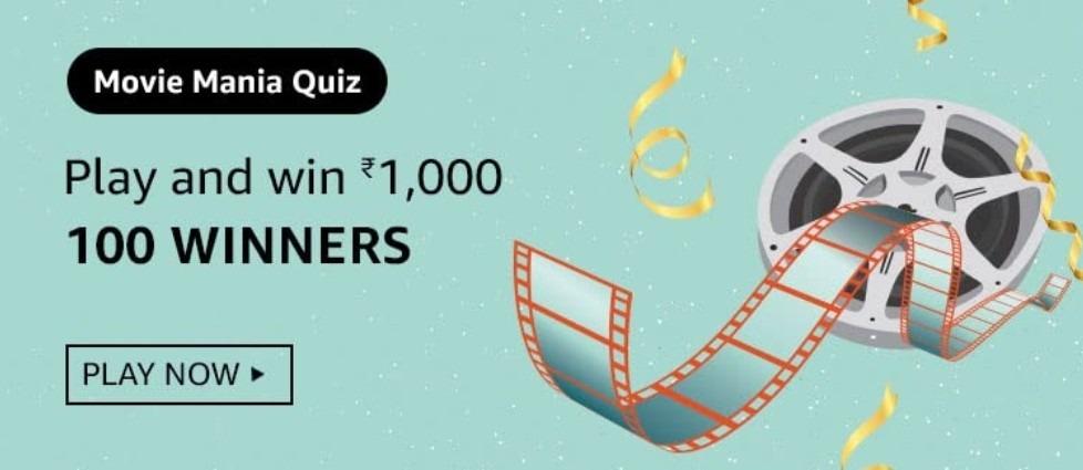 Amazon Movie Mania Quiz Answers Win Rs. 1,000 Pay Balance (100 Winners)
