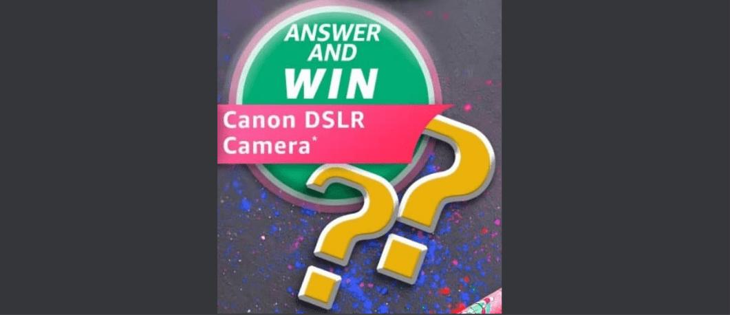 Amazon Holi Edition Quiz Answers Win Canon DSLR Camera