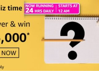 Amazon Quiz Answers 3 March 2021 Win Rs. 15,000 Pay Balance (2 Winners)