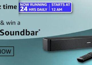 Amazon Quiz Answers 4 March 2021 Win Bose Soundbar