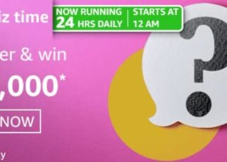 Amazon Quiz Answers 5 March 2021 Win Rs. 20,000 Pay Balance (2 Winners)