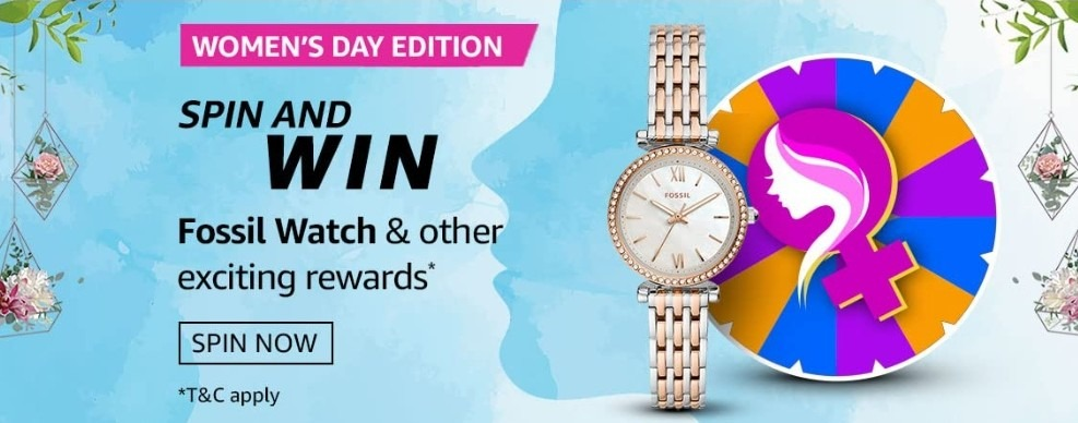 Amazon Spin and Win Womens Day Edition Quiz Today