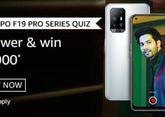 Amazon Oppo F19 Pro Series Quiz Answers Win Rs.5000 Pay Balance (20 Winners)