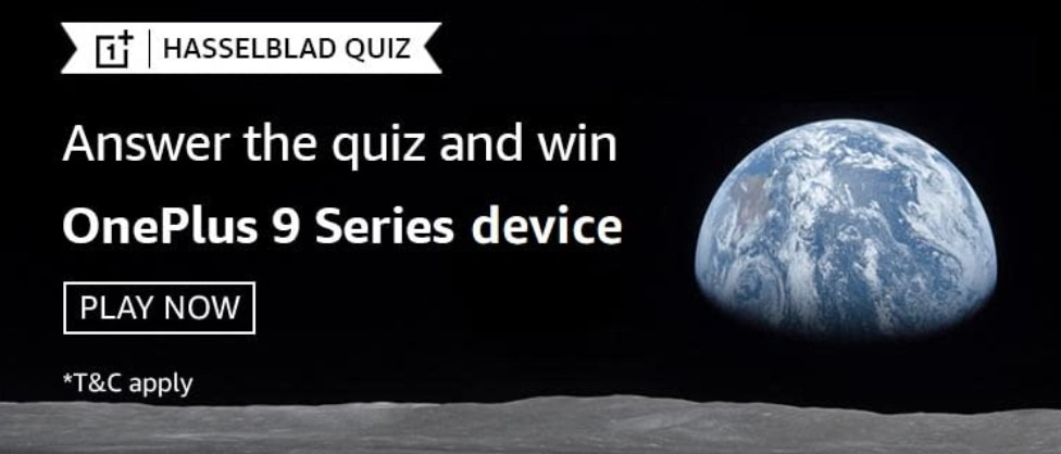 Amazon Hasselblad Quiz Answers Win OnePlus 9 Series Device (2 Winners)