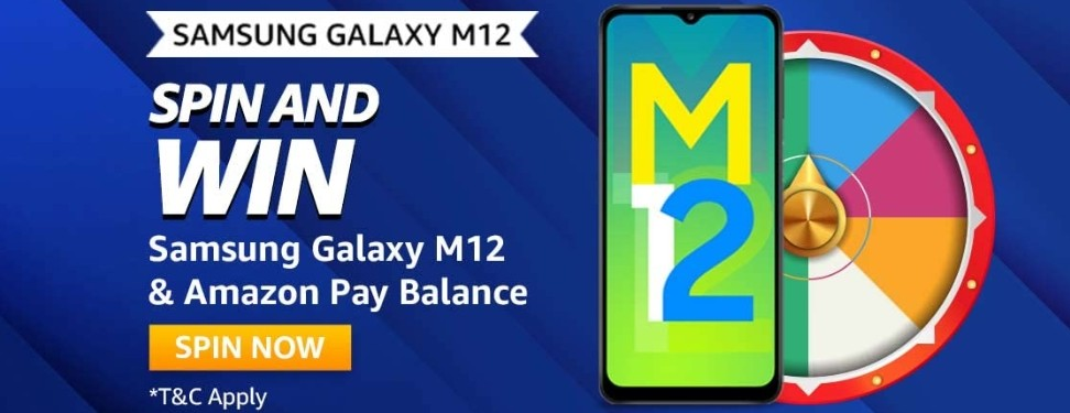 Amazon Spin and Win Samsung Galaxy M12 Quiz Answer