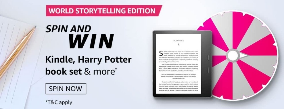 Amazon Spin and Win World Storytelling Edition Quiz Answer