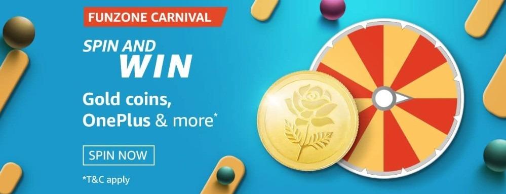 Amazon Spin and Win Funzone Carnival Quiz Answer