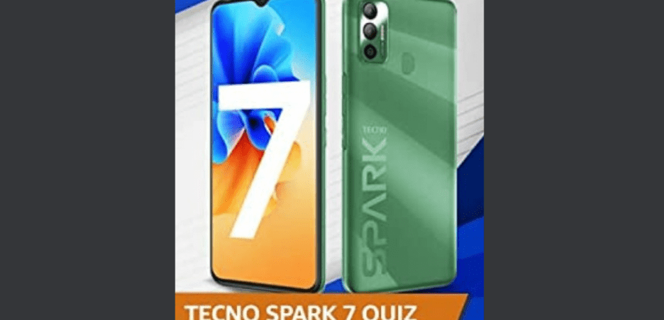 Amazon Tecno Spark 7 Quiz Answers Win Tecno Spark 7 Phone (15 Winners)