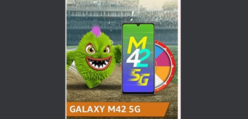 Amazon Spin and Win Samsung Galaxy M42 5G Quiz Answer
