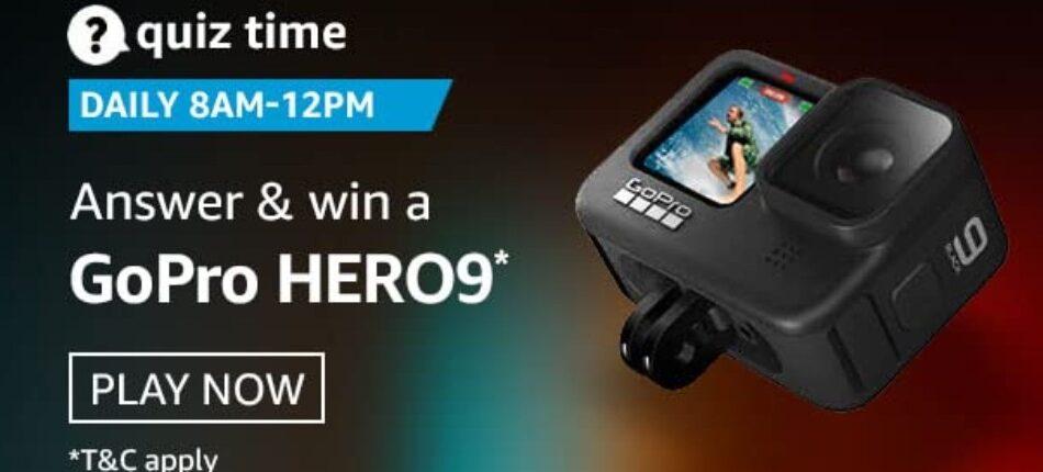 Amazon Quiz Answers 27 April 2021 Win GoPro Hero 9