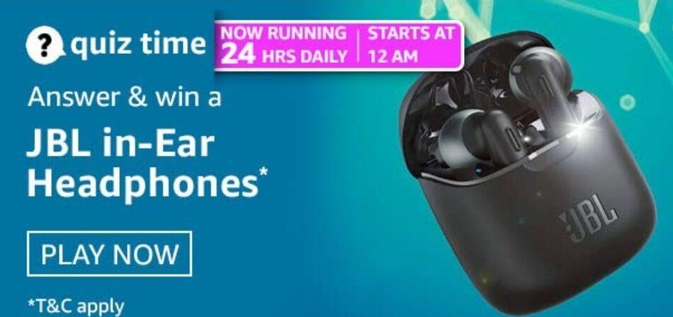 Amazon Quiz Answers 6 April 2021 Win JBL in-Ear Headphones