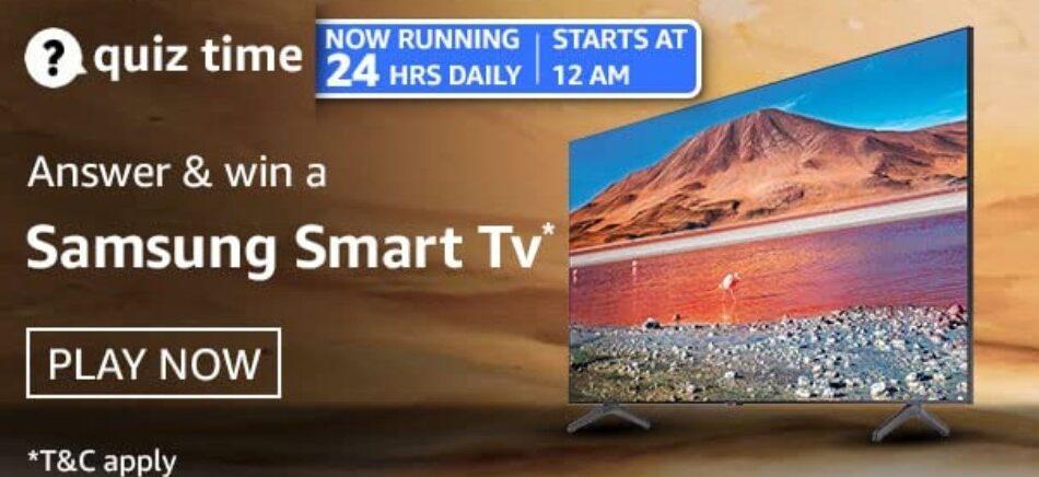 Amazon Quiz Answers 2 April 2021 Win Samsung Smart TV