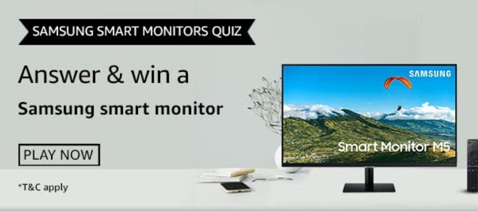 Amazon Samsung Smart Monitors Quiz Answers Win Samsung Smart Monitor (7 Winners)