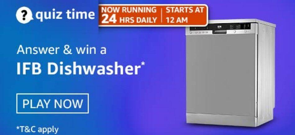 Amazon Quiz Answers 24 April 2021 Win IFB Dishwasher