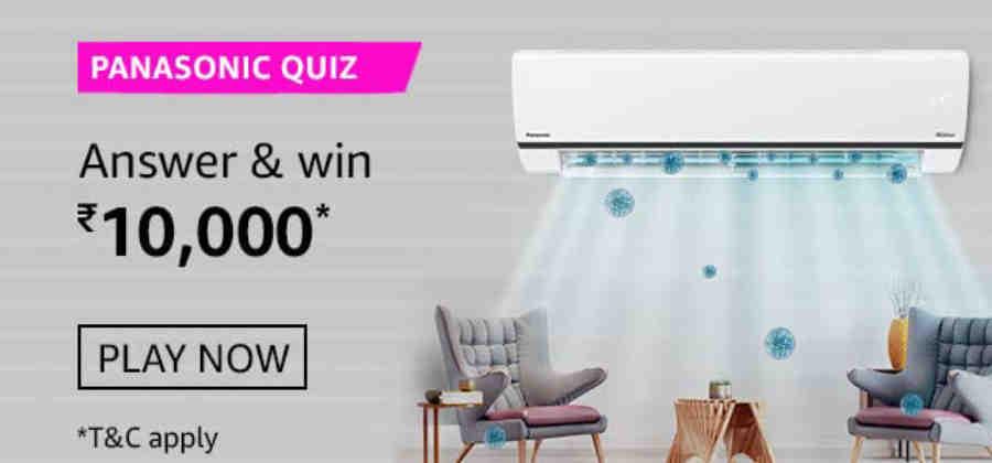 Amazon Panasonic Quiz Answers Win Rs. 10,000 Pay Balance (10 Winners)