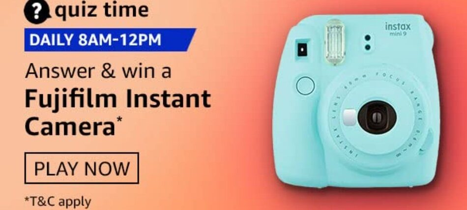Amazon Quiz Answers 4 May 2021 Win Fujifilm Instant Camera