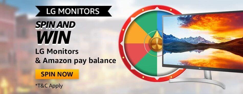 Amazon Spin and Win LG Monitors Quiz