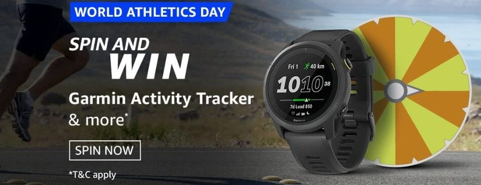 Amazon Spin and Win World Athletics Day Quiz