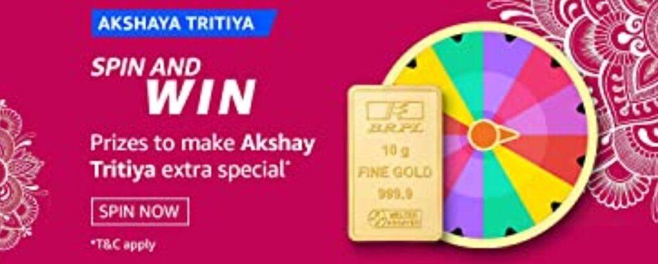 Amazon Spin and Win Akshaya Tritiya Quiz