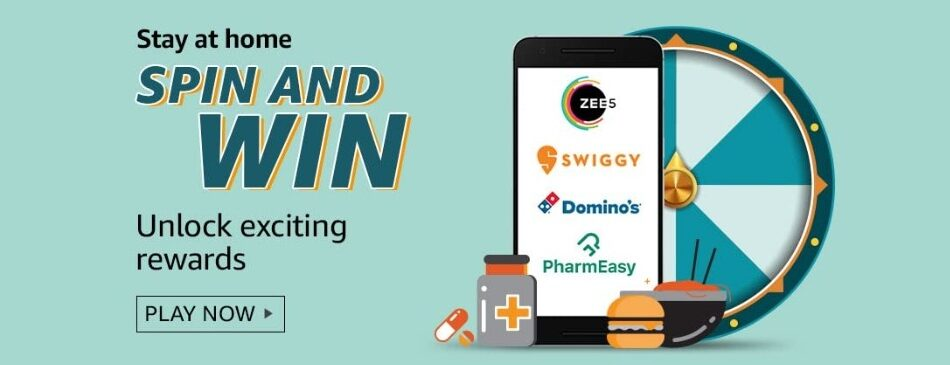 Amazon Spin and Win Stay at Home Quiz Answer