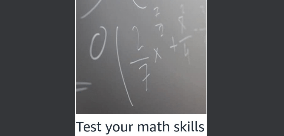 Amazon Test your Math Skill Quiz Answers
