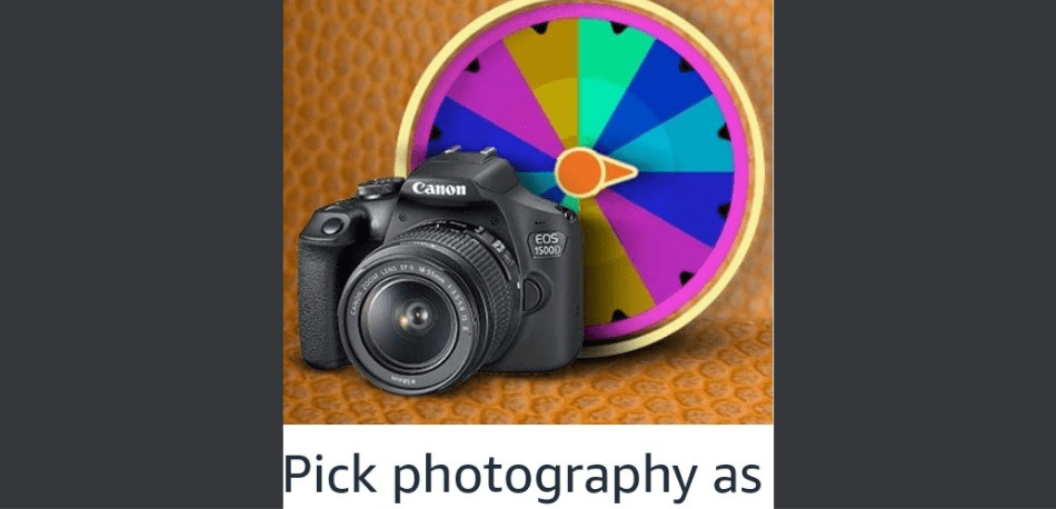 Amazon Spin and Win Photography Edition Quiz Answer