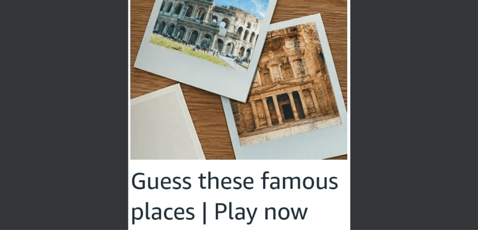 Amazon Guess these famous places Quiz Answers Geography
