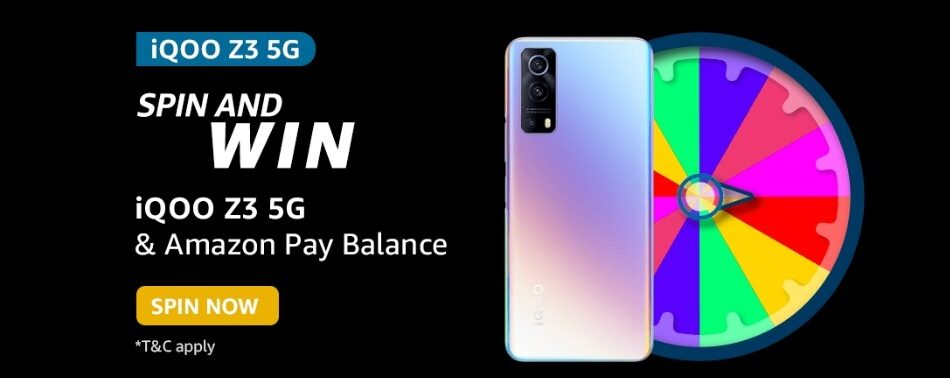 Amazon Spin and Win iQOO Z3 5G Quiz Answer