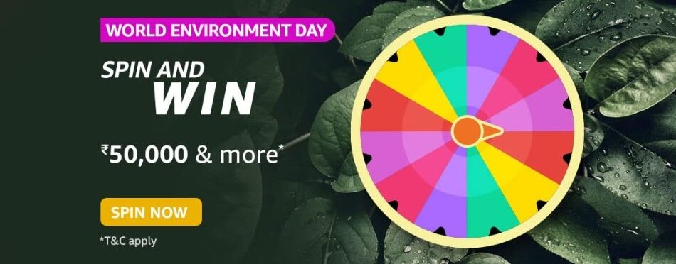 Amazon Spin and Win World Environment Day Quiz Answer
