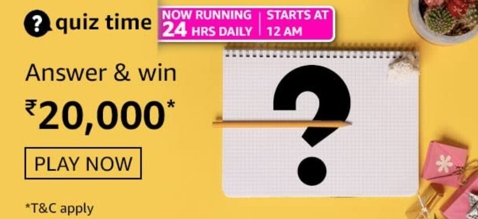 Amazon Quiz Answers 27 July 2021 Win Rs. 20,000 Pay Balance (2 Winners)