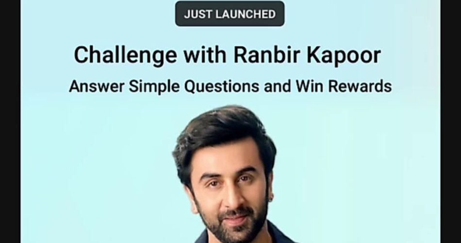 Flipkart Challenge with Ranbir Kapoor Quiz Answers