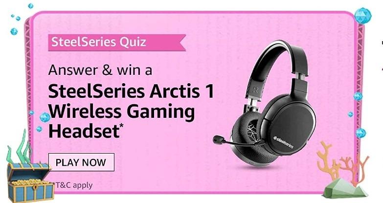Amazon SteelSeries Quiz Answers Win SteelSeries Arctics 1 Wireless Gaming Headset (13 Winners)
