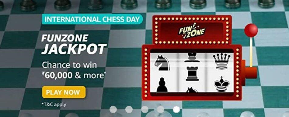 Amazon Funzone Jackpot International Chess Day Quiz Answers