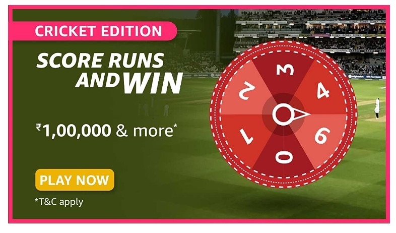 Amazon Spin and Win Cricket Edition Quiz Answer