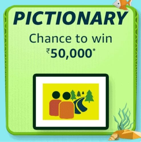 Amazon Carnival Pictionary Quiz Answers July Win Rs. 50,000 Pay Balance