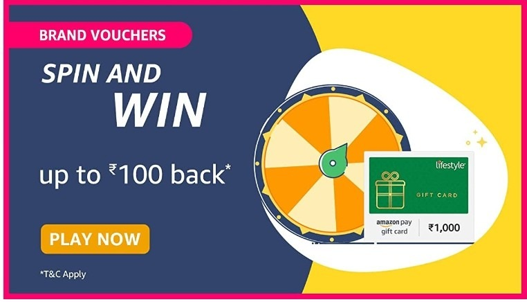 Amazon Spin and Win Brand Vouchers Quiz Answer